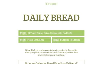 Panera Bread Fund Raiser