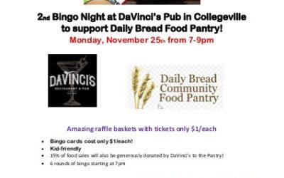 2nd Annual Bingo Night at DaVinci's Pub